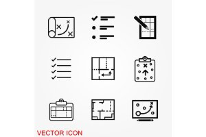 Planning icon vector