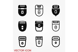 Epilator icon vector