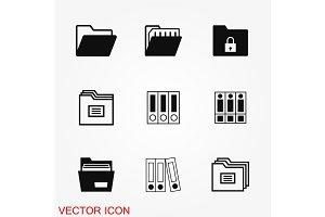 Folder icon vector