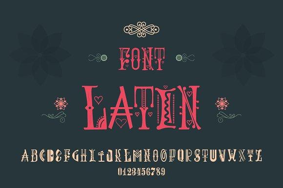 Decorative font - Spring