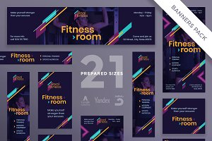 Banners Pack | Fitness Gym