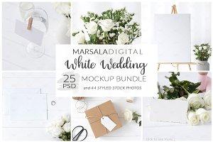 White Wedding Mockup Bundle