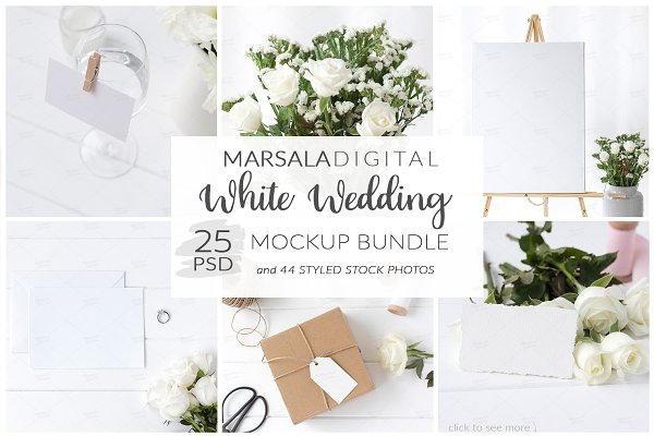 White Wedding Mockup Bundle