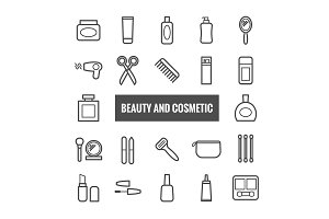 22 vector beauty and cosmetics icons