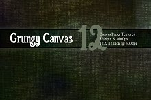12 Dark Canvas Textures