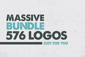 MASSIVE BUNDLE 576 Vintage Logos