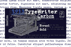 1913 Typewriter Carbon Set OTF