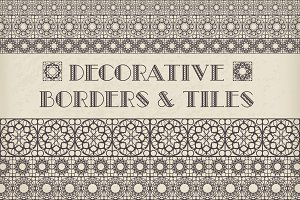 50 Decorative Borders & Tiles