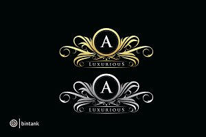 Gold Luxurious A Boutique Logo