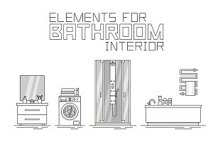 Elements for bathroom interior