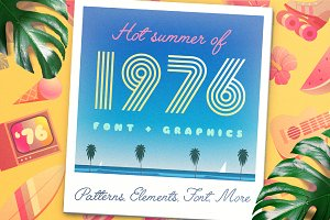 HOT SUMMER'76 Vector Graphics +Font