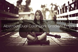 Abstract Dual Color Dark Effect