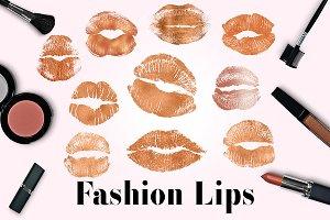 Copper Lips Clipart, Kissing Lips