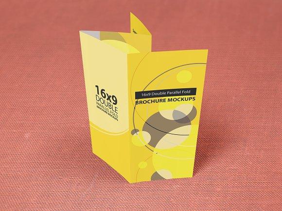 16×9 Double Parallel Brochure Mockup