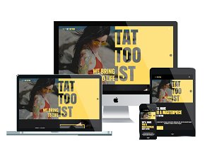 AT Tattoo – Joomla tattoo template