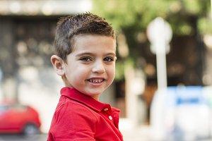 Portrait of a urban little boy