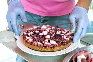 Traditional octopus Galician style