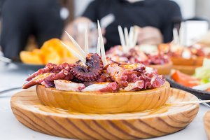 Delicious galician style octopus