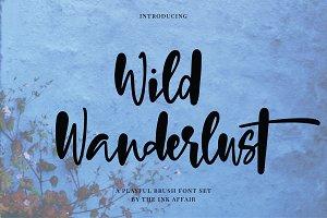 Wild Wanderlust Font Set