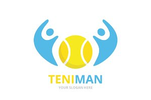 Vector tennis and people logo