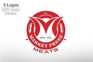 Market Fresh Meat Logo