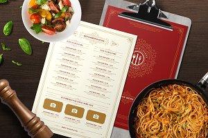 Restaurant Menu Template and Logo