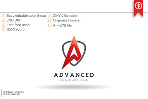 Advanced Letter A - Logo Template