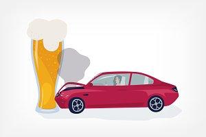 Concept drunk driver