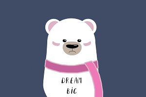 Bear Illustration - Dream Big