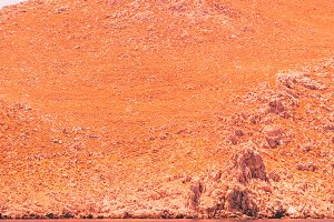 Orange alien mountains
