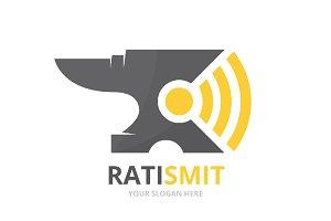 Vector smith and wifi logo
