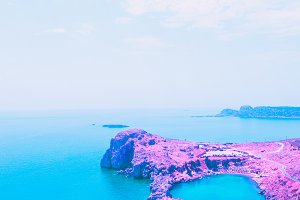 Landscapes of nature with pink rocks