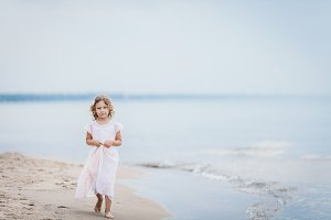 Little girl at the beach