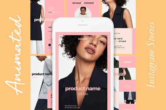 Animated Instagram Stories Template