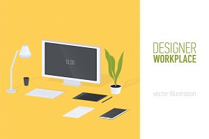 Modern designer workplace