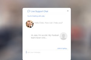 iOS 7 inspired - Live Support Chat