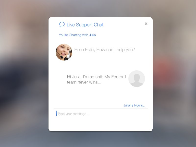 iOS 7 inspired - Live Support Chat ~ Website Templates ~ Creative Market