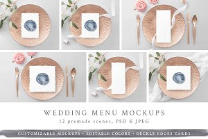 NEW! Wedding Menu/Program Mockups