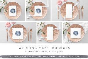 Wedding Menu/Program Mockups