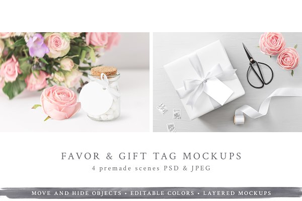 Wedding Favor & Gift Tag Mockup