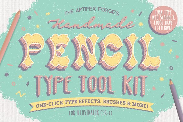 Photoshop Layer Styles: The Artifex Forge - The Hand-drawn Pencil Type Tool Kit