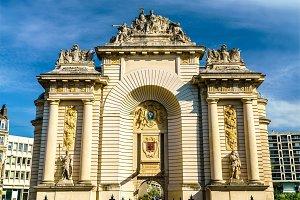 Porte de Paris, a Triumphal Arch in Lille, France