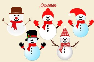 Snowman Png Illustrations