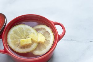 Infusion lemon and ginger