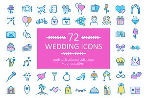 72 Wedding Icons