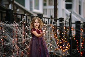 Little girl in a fairy costume