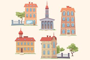 Classic Vector Buildings Set