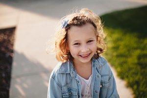 Happy smiling little girl