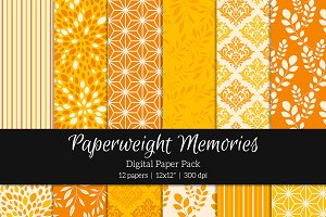 Patterned Paper - Tangerine Delusion