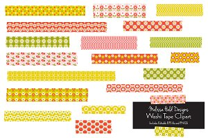 Vintage Pattern Washi Tape Clipart